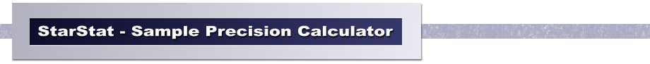 StarStat - Sample Precision Calculator